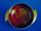 Carlton Ware Rouge Royale 'Nosegay' Fin Handle Round Dish c1950